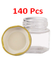 140 X 45ML MINI JAM JARS HONEY CHUTNEY PRESERVE PICKLE GLASS FOOD WEDDING FAVOUR