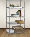 5 Tier Carbon Steel Shelf Kitchen Garage Storage Wire Rack Shelving