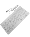 White Mini Slim 78 Key USB Wired Compact Thin Keyboard for Desktop Laptop Mac PC