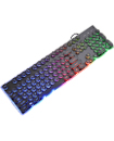 GB PUNK Keycap K100 Wired LED Backlit Usb Ergonomic Gamer Gaming Keyboard Laptop