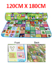 2 SIDE KIDS CRAWLING EDUCATIONAL GAME PLAY MAT SOFT FOAM PICNIC CARPET 120*180CM