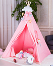 Kids childrens play tent childs garden or indoor toy 5' Canvas Pink