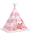 Kids childrens play tent childs garden or indoor toy 5' Canvas Powder stripe