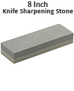 8 Inch Double Sided Knife Sharpening Stone Fine Medium Grit Whetstone