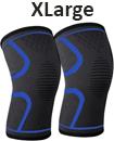 pair orthopaedic heating magnetic knee support tourmaline sprain arthritis L