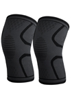 Pair Orthopaedic Heating Magnetic Knee Support Tourmaline Sprain Arthritis Medium