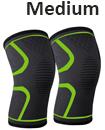 pair orthopaedic heating magnetic knee support tourmaline sprain arthritis M