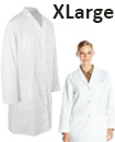 Lab Coat Hygiene Food Industry warehouse Laboratory Doctors Medical coat White Extra Large Size