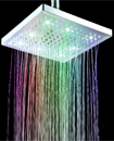 "Contemporary Chrome Square 8"" inch 7 LED Color Cha"