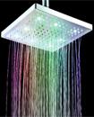 "Contemporary Chrome Square 8"" inch 7 LED Color Cha"