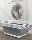 SPACE SAVING COLLAPSIBLE LAUNDRY LARGE FOLDING BASKET CLOTH WASHING POP UP BIN
