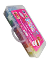 2200 Rainbow Coloured Loom Rubber Band Bracelet S