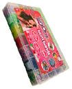 8000 Rainbow Coloured Loom Rubber Band Bracelet S