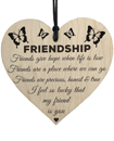 I'm Lucky My Friend Is You Wooden Hanging Heart Friendship Gift Best Friends Valentine