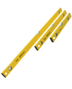 3 Piece Builders Spirit Level Set 400, 600 & 1000mm