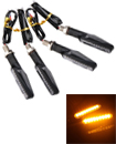 4x Universal LED Motorcycle Indicators Motorbike Turn Signals Light 12V