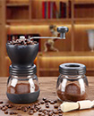 Manual Coffee Bean Grinder | Adjustable Coarseness Ceramic Hand Held Mill