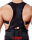 Neoprene Magnetic Posture Corrector Belt Bad Back Brace Shoulder Support Brace