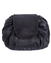 Quick Release Large Capacity Cosmetic Drawstring Bag Magic Pouch Travel Storage (pure black)
