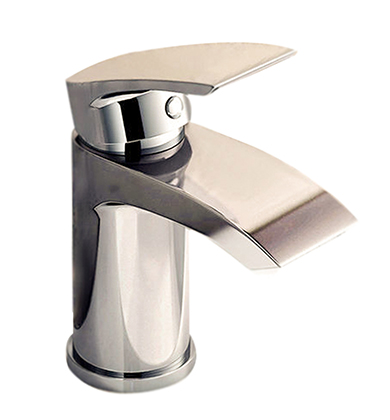 Modern Chrome Small Mono Basin Mixer Tap Designer Bathroom Cloakroom Sink