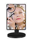 22 LED Light Illuminated Make Up Cosmetic Mirror with Small Magnification Mirror