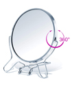 Double 4-inch Metal Folding 2 Way Zoom Makeup Cosmetic Mirror