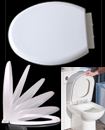 LUXURY SOFT SLOW CLOSE WHITE OVAL TOILET SEAT TOP