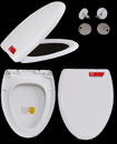 Durable Heavy Duty Oval Shape Soft Close Toilet Seat Top Fixing Hinges