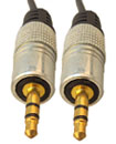 1 Meter Gold Plated 3.5MM Jack Male To Male AUX St