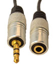 1 Meter Gold Plated 3.5MM Jack Male To Female AUX cable