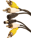 5 Meter RCA Power Audio Video AV Cable For CCTV Ca