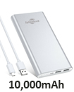 Portable 10,000mAH Dual USB Port External Power Bank Backup Battery Charger