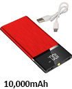 Portable 10,000mAH Dual USB Port Ultra-Thin External Power Bank Backup Battery Charger