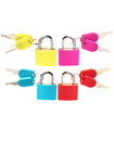 Padlocks 4pc Small Coloured Brass Padlocks Travel Luggage Bag Suitcase Padlock Set