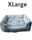 Pet Basket Bed Fleece Soft Warm Comfy Fabric Washable Cat Dog