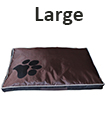 DOUBLE SIDED WATERPROOF DOG PET CAT BED MAT CUSHION MATTRESS WASHABLE COVER L Black