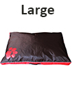 DOUBLE SIDED WATERPROOF DOG PET CAT BED MAT CUSHION MATTRESS WASHABLE COVER L Red
