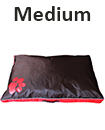 DOUBLE SIDED WATERPROOF DOG PET CAT BED MAT CUSHION MATTRESS WASHABLE COVER  M Red