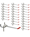 25x Single Pegboard Hooks 50mm Board Slat Wall Retail Display Shop Peg
