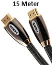 Premium HDMI Cable 1.4v  Gold High Speed HDTV UltraHD HD 1080p 3D 15M