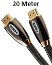 Premium HDMI Cable 1.4v Gold High Speed HDTV UltraHD HD 1080p  3D 20M