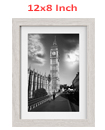 12 x 8 Inches Wall Mounted Picture Photo Poster Frame MDF Board Off White