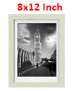 18 x 12 Inches Wall Mounted Picture Photo Poster Frame MDF Board Off White