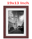 19 x 13 Inches Wall Mounted Picture Photo Poster Frame MDF Board Walnut