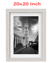 20 x 20 Inches Wall Mounted Picture Photo Poster Frame MDF Board Off White
