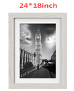 24 x 18 Inches Wall Mounted Picture Photo Poster Frame MDF Board Off White