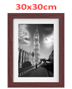 30 x 30cm Wall Mounted Picture Photo Poster Frame MDF Board Walnut