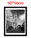 50 x 50cm Wall Mounted Picture Photo Poster Frame MDF Board Black
