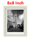 8 x 8 Inches Wall Mounted Picture Photo Poster Frame MDF Board Oak