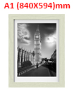 A1 23.4 x 33.1 Inches Wall Mounted Picture Photo Poster Frame MDF Board Oak